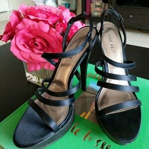 9 West strappy heels